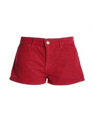 Повседневные шорты CURRENT/ELLIOTT. Цвет: красный