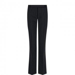 Расклешенные шерстяные брюки в полоску Alexander McQueen. Цвет: чёрно-белый