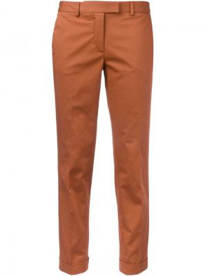 Укороченные брюки-чинос Alberto Biani. Цвет: желтый