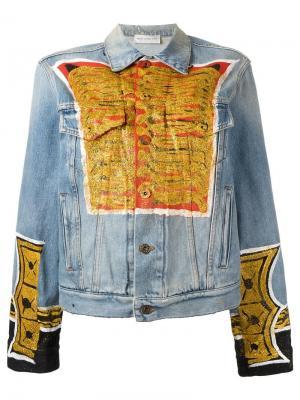 Джинсовая куртка с принтом Faith Connexion. Цвет: синий