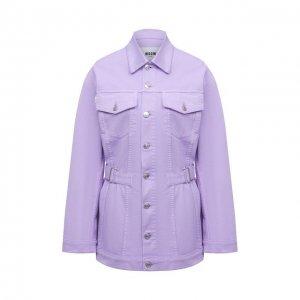 Джинсовая куртка MSGM. Цвет: фиолетовый
