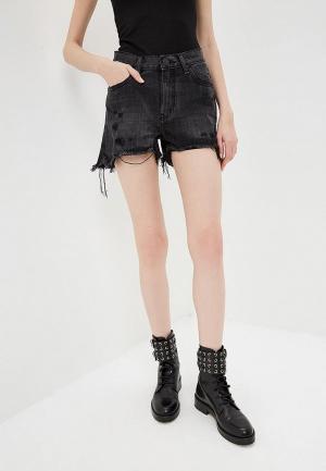 Шорты джинсовые One Teaspoon BONITA HIGH WAIST. Цвет: черный