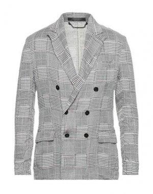 Пиджак MESSAGERIE. Цвет: светло-серый