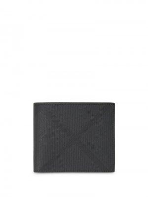 Бумажник в клетку London Check Burberry. Цвет: серый