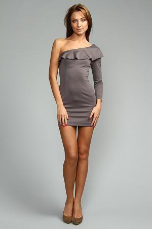 Платье I am. Цвет: серый