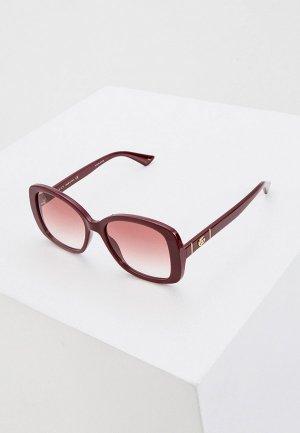 Очки солнцезащитные Gucci GG0762S 003. Цвет: бордовый