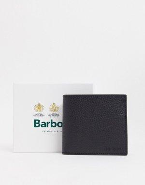 Черный кожаный бумажник Barbour