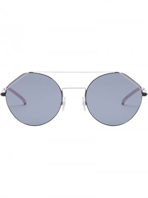 Солнцезащитные очки FendiFiend в круглой оправе Fendi Eyewear. Цвет: серый