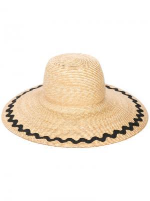 Соломенная шляпа Marysia. Цвет: нейтральные цвета
