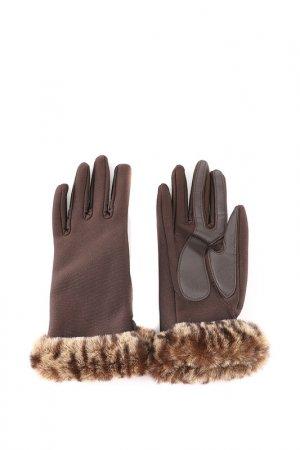 Перчатки Isotoner. Цвет: коричневый