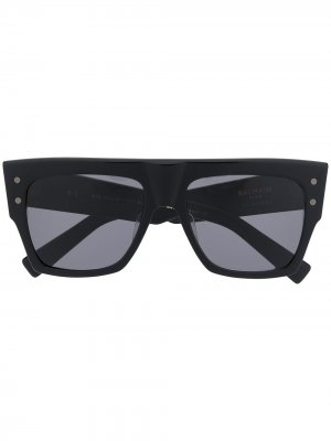Солнцезащитные очки B-I Balmain Eyewear. Цвет: черный