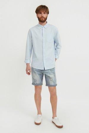 Шорты джинсовые мужские Finn-Flare. Цвет: голубой