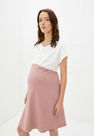 Платье домашнее All Mixes. Цвет: розовый
