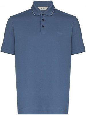Рубашка поло с короткими рукавами Z Zegna. Цвет: синий