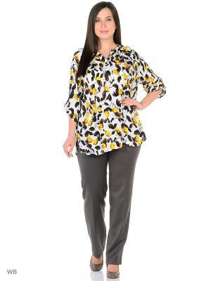 Блузка AMAZONE. Цвет: белый, желтый