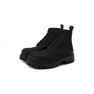 Текстильные ботинки Balenciaga. Цвет: чёрный