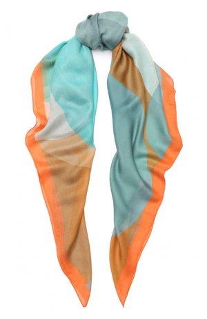 Шаль из смеси кашемира и шелка Loro Piana. Цвет: оранжевый