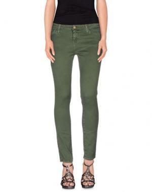 Джинсовые брюки ACQUAVERDE. Цвет: зеленый-милитари