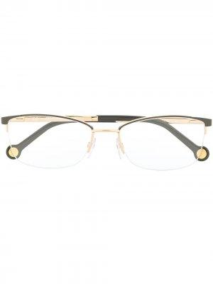 Half-rim rectangular-frame glasses Carolina Herrera. Цвет: серый