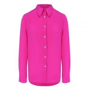 Шелковая рубашка Adam Lippes. Цвет: розовый