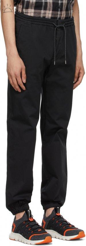 Black Cotton Jogger Lounge Pants Z Zegna. Цвет: k09 black