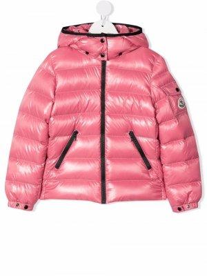 Padded hooded down jacket Moncler Enfant. Цвет: розовый