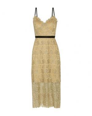 Платье длиной 3/4 CATHERINE DEANE. Цвет: золотистый