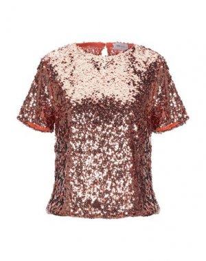Блузка BSB. Цвет: ржаво-коричневый