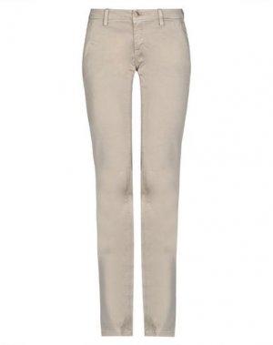 Повседневные брюки CARE LABEL. Цвет: светло-коричневый