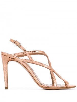 Босоножки Ophelia на высоком каблуке Jean-Michel Cazabat. Цвет: розовый