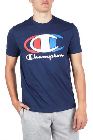 Футболка Legacy Crewneck Champion. Цвет: синий