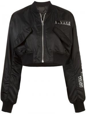 Куртка-бомбер Credit Card Alexander Wang. Цвет: черный