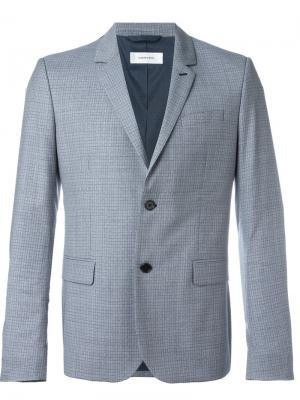 Пиджак с принтом в клетку Carven. Цвет: синий