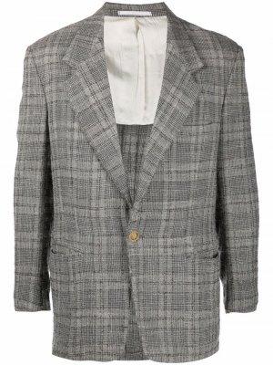 Пиджак 1980-х годов с заостренными лацканами Versace Pre-Owned. Цвет: серый
