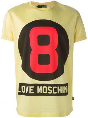 Футболки и жилеты Love Moschino. Цвет: жёлтый и оранжевый