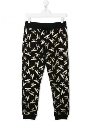 Спортивные брюки с логотипами Boy London Kids. Цвет: черный
