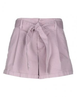 Джинсовые шорты JUCCA. Цвет: светло-фиолетовый