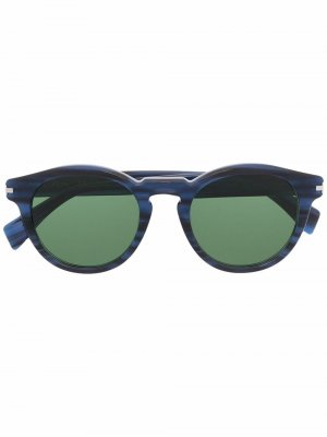 Солнцезащитные очки в круглой оправе LANVIN. Цвет: синий