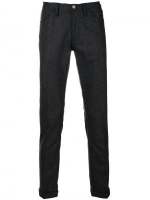 Приталенные классические брюки Pt05. Цвет: серый