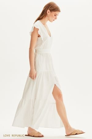 Платье макси с ярусным подолом LOVE REPUBLIC