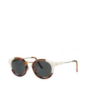Солнечные очки SUPER by RETROSUPERFUTURE. Цвет: коричневый