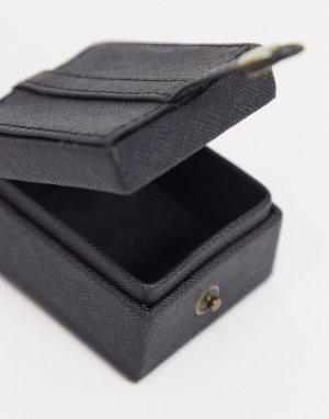 Черный чехол для наушников Аirpods из искусственной кожи ASOS DESIGN