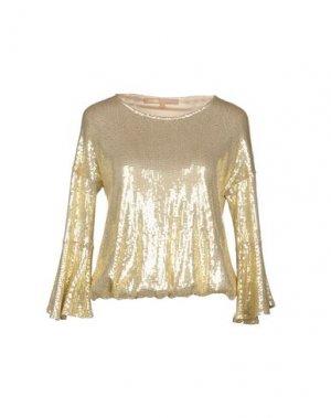 Блузка BABYLON. Цвет: золотистый