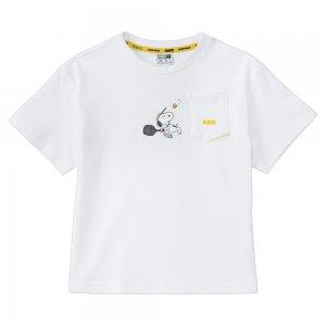 Детская футболка x PEANUTS Kids Tee PUMA. Цвет: белый