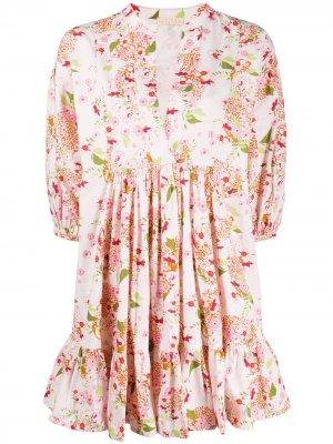 Структурированное платье-рубашка byTiMo. Цвет: розовый