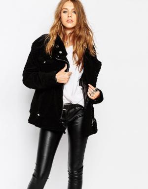 Куртка-пилот в стиле oversize Blank NYC. Цвет: черный