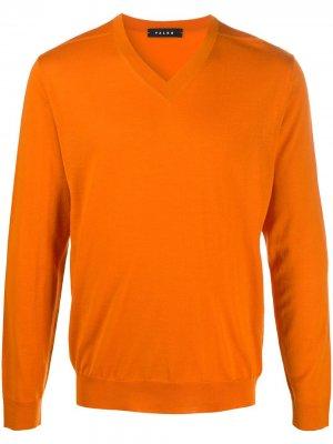Пуловер с V-образным вырезом Falke. Цвет: оранжевый