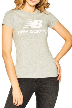 Футболка Essentials Stacked New Balance. Цвет: серый