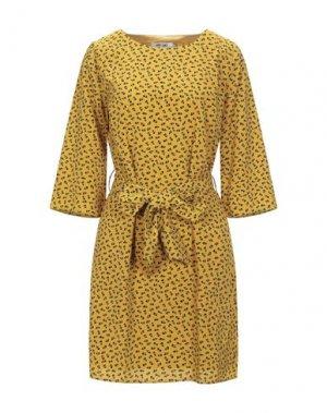 Короткое платье DRY LAKE.. Цвет: охра