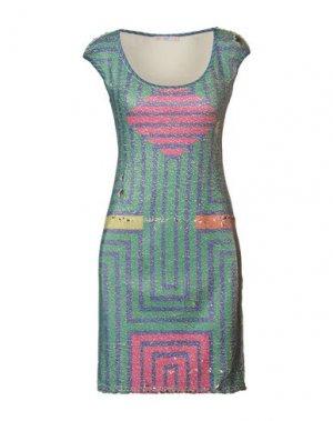 Короткое платье AGOGOA. Цвет: зеленый